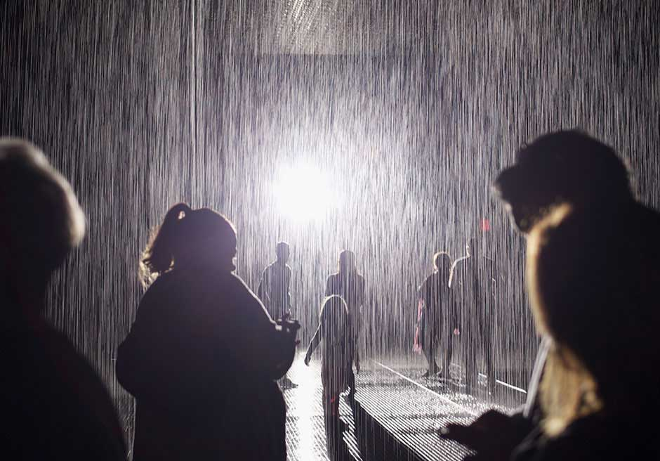 rainroom venue activation museum