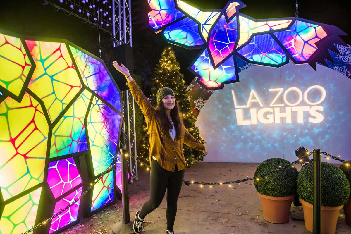 Los Angeles Zoo Lights Holiday Brand Installation | GES Events